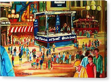 Montreal Jazz Festival Canvas Print by Carole Spandau