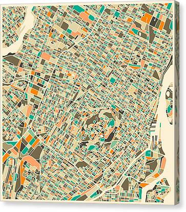 Montreal Map Canvas Print by Jazzberry Blue