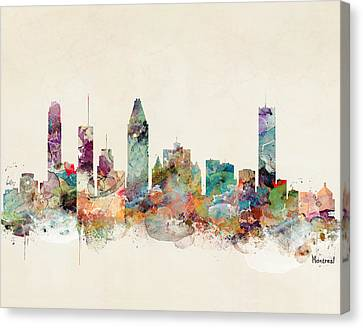 Montreal Quebec Canada Skyline Canvas Print