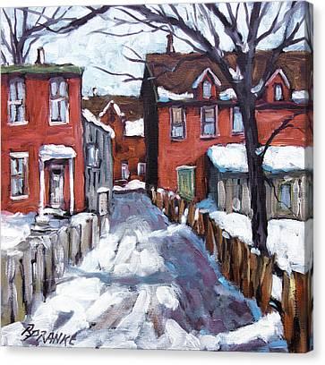 Montreal Scene 02 By Prankearts Canvas Print by Richard T Pranke