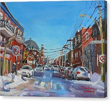 Montreal Scene Darlene Young Canvas Print
