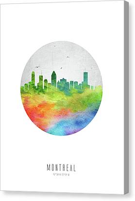 Montreal Skyline Caqcmo20 Canvas Print by Aged Pixel