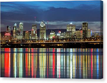 Montreal Skyline Canvas Print by Mircea Costina Photography