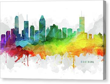 Montreal Skyline Mmr-caqcmo05 Canvas Print by Aged Pixel