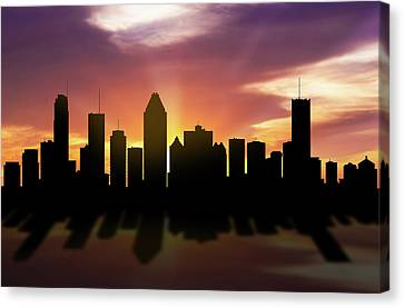 Montreal Skyline Sunset Caqcmo22 Canvas Print by Aged Pixel