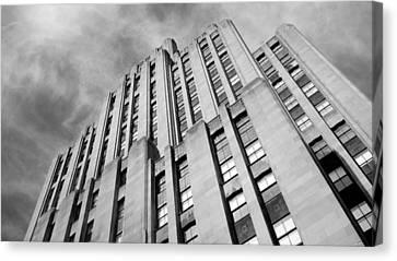 Canvas Print featuring the photograph Montreal Skyscraper by Valentino Visentini