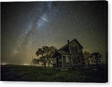 Abandoned House Canvas Print - Montrose Orionid by Aaron J Groen