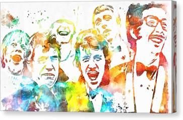 Monty Python Watercolor Tribute Canvas Print by Dan Sproul