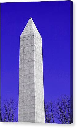 Monument Blue Canvas Print by Tina B Hamilton