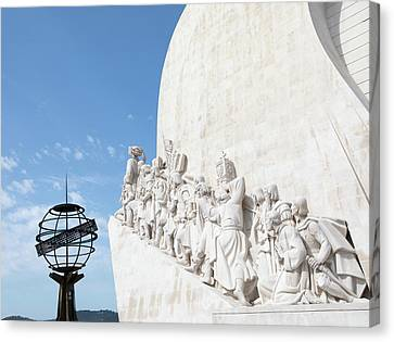 Canvas Print featuring the photograph Monument Of The Discoveries by Rebecca Cozart