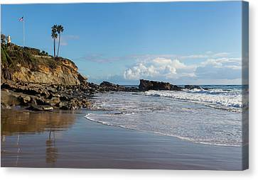 Canvas Print featuring the photograph Monument Point At Low Tide by Cliff Wassmann