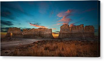Smoke Signals Canvas Print by Thomas Zimmerman