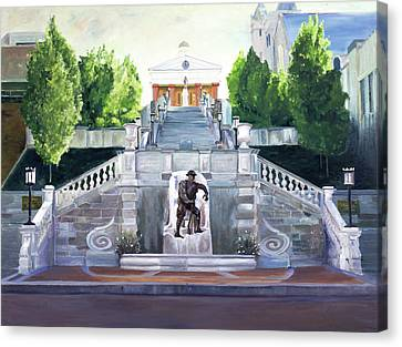Monument Terrace Canvas Print by J Luis Lozano