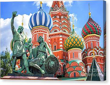 Monument To Minin And Pozharsky Canvas Print
