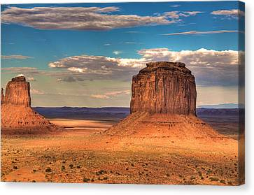 Monument Valley At Dusk Canvas Print by William Wetmore