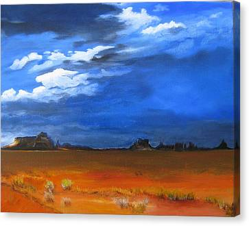 Monument Valley Clouds Canvas Print