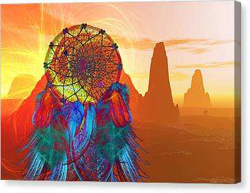 Monument Valley Dream Catcher Canvas Print by Carol and Mike Werner
