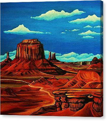 Arizona Contemporary Cowgirl Canvas Print - Monument Valley by Lucy Deane