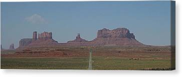 Canvas Print featuring the photograph Monument Valley Navajo Tribal Park by Christopher Kirby