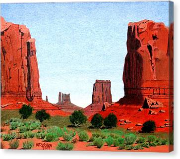Monument Valley North Window Canvas Print by Mike Robles