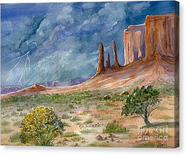 Monument Valley Raging Storm Canvas Print