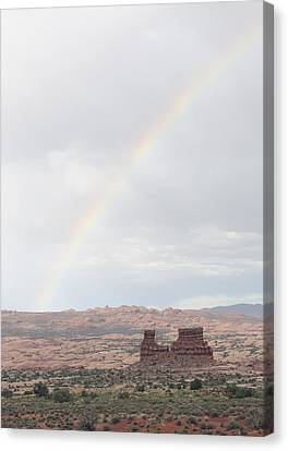 Monument Valley Rainbow Canvas Print by Harold Piskiel