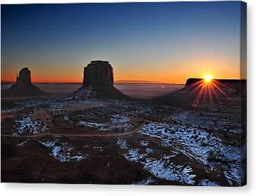 Southwest Landscape Canvas Print - Monument Valley Sunrise by Edwin Verin