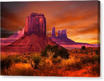 Monument Valley Canvas Print - Monument Valley Sunset by Harry Spitz