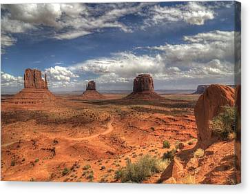 Canvas Print featuring the photograph Monument Valley View by Donna Kennedy