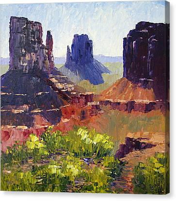 Monument Valley View Canvas Print by Terry  Chacon