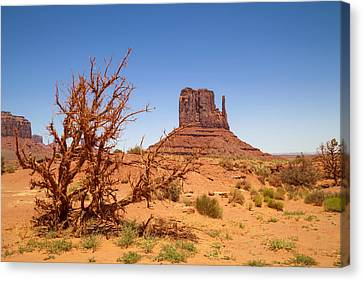 Navajo Nation Canvas Print - Monument Valley West Mitten Butte And Landscape by Melanie Viola