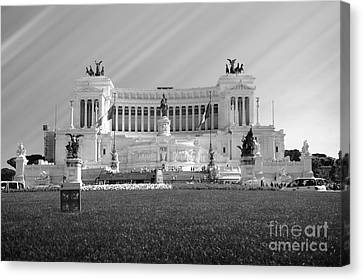 Monumental Architecture In Rome Canvas Print by Stefano Senise