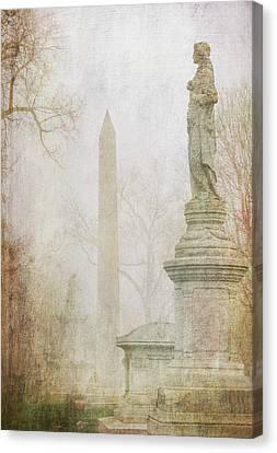 Canvas Print featuring the photograph Monumental Fog by Heidi Hermes
