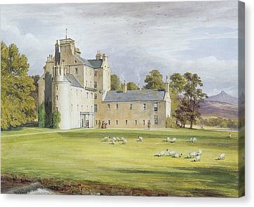 Monymusk House Canvas Print by James Giles