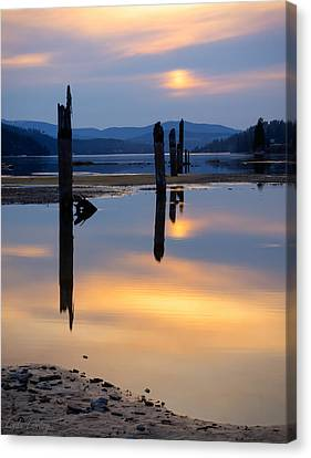 Mood On The Bay Canvas Print by Idaho Scenic Images Linda Lantzy
