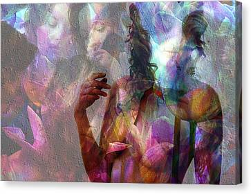 Moods In Abstract Pastel Canvas Print