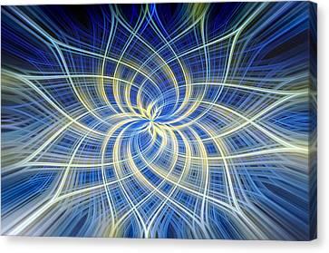 Canvas Print featuring the digital art Moody Blue by Carolyn Marshall