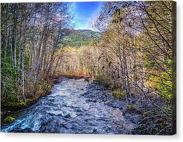 Canvas Print featuring the photograph Moody Blue River by Spencer McDonald