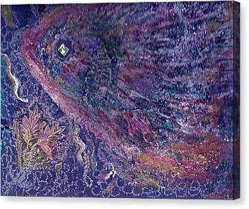 Moody Blues Fish With Sparkling Eye I Canvas Print by Anne-Elizabeth Whiteway