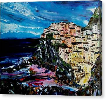Moody Dusk In Italy Canvas Print