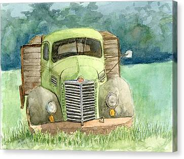 Moody Green Canvas Print
