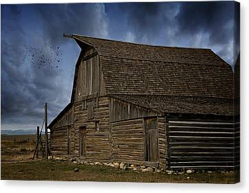 Barn Storm Canvas Print - Moody Moulton by Lana Trussell