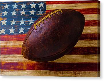 Moody Old Football Canvas Print by Garry Gay