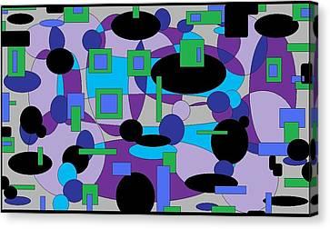 Moody Purple Canvas Print by Jordana Sands
