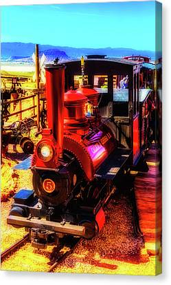 Moody Red Train Canvas Print by Garry Gay