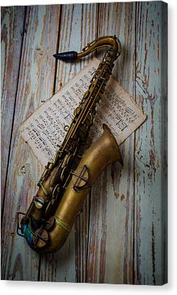 Moody Sax Canvas Print by Garry Gay