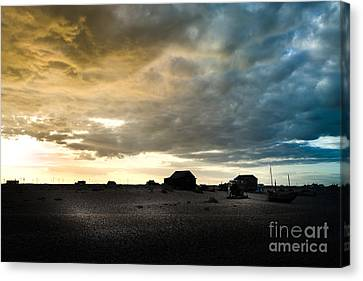 Moody Sky, Dungeness Beach  Canvas Print