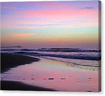 Moody Sunrise Canvas Print by Betty Buller Whitehead