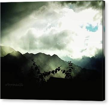 Canvas Print featuring the photograph Moody Weather by Mimulux patricia no No