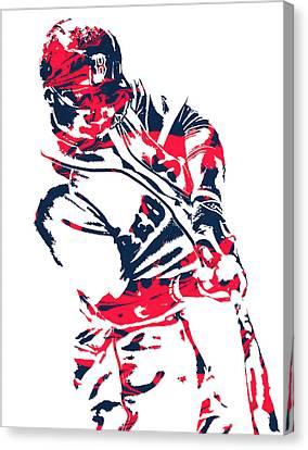 Mookie Betts Boston Red Sox Pixel Art 3 Canvas Print
